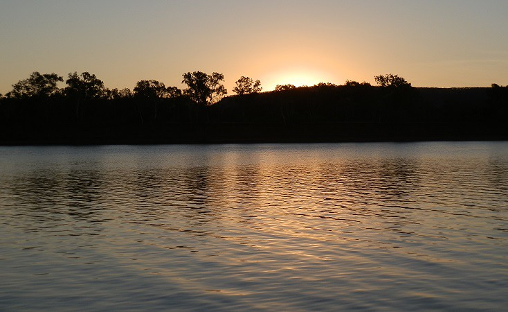 Sunset on the Victoria River, Northern Territory