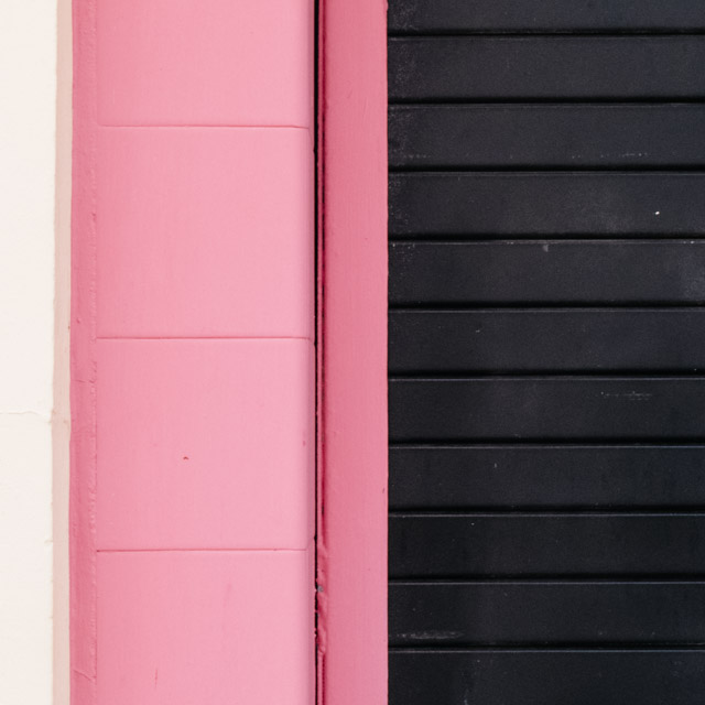 white, pink and black wall