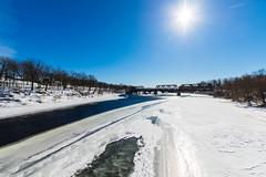 Frozen Kennebec; Waterville, Maine