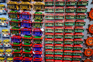 Tons of cable car magnets for sale in a pier 39 gift shop by m01229
