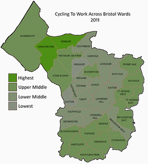Bristol Cycling Levels By Wards 2011 | by samsaundersleeds