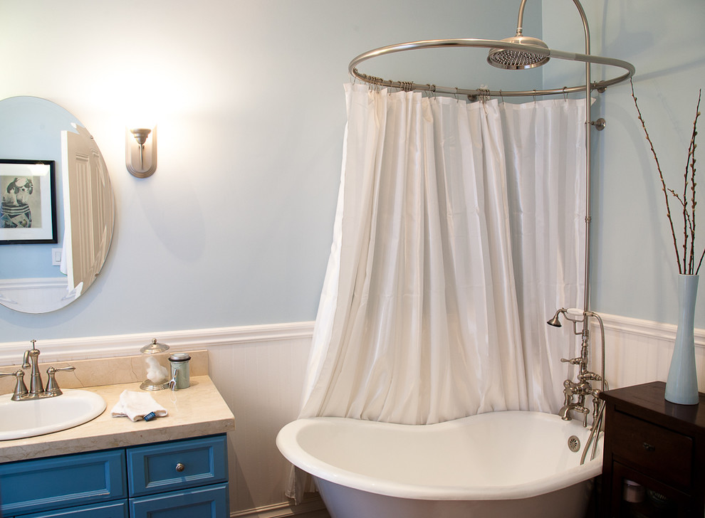 Easy Way To Make Shower Curtain Rod For Clawfoot Tub