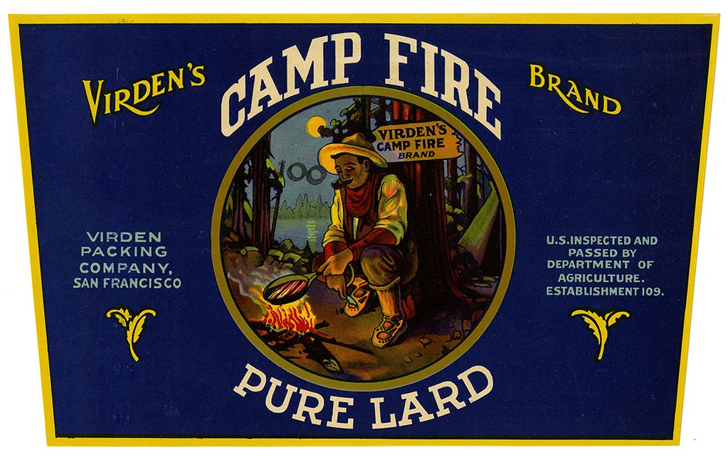 Lard label, Virden's Camp Fire Brand, Lehmann Printing and Lithographing Co. | by California Historical Society Digital Collection