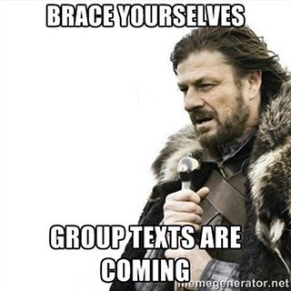 "Brace yourselves group texts are coming... ""Merry Christmas"" #merryChristmas 