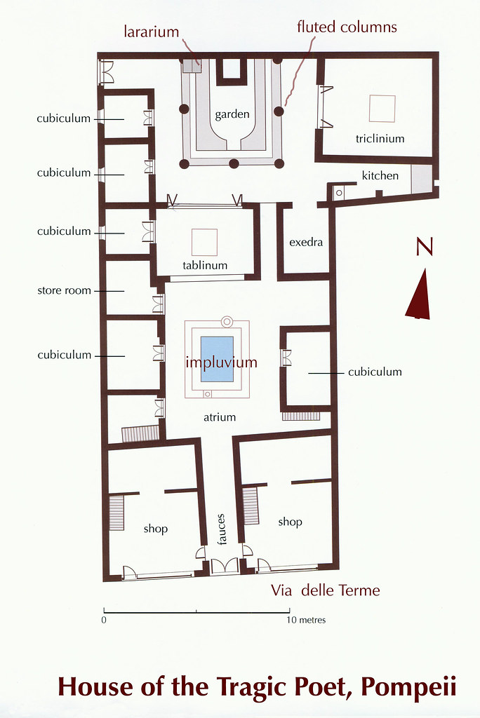 House of the tragic poet floor plan meze blog - Pictures of the house plan ...