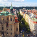 Прага. Вид на Церковь Святого Микулаша с часовни