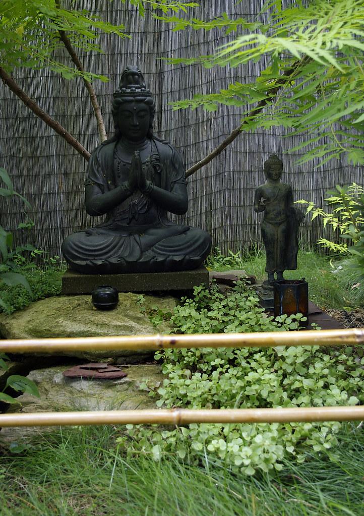 ... My Garden Buddhas Meditate Under The Tiger Sumac | By Ronald (Ron)  Douglas Frazier
