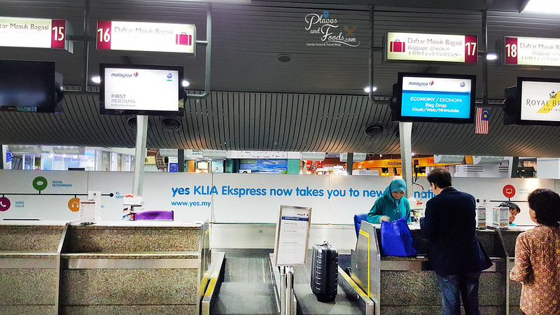 Malaysia Airlines Check In Services at KL Sentral counters