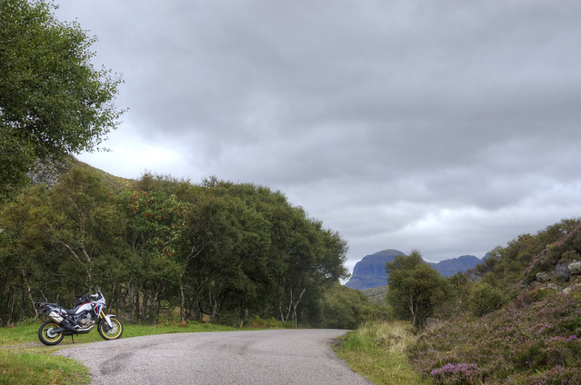 Africa Twin with Suilven