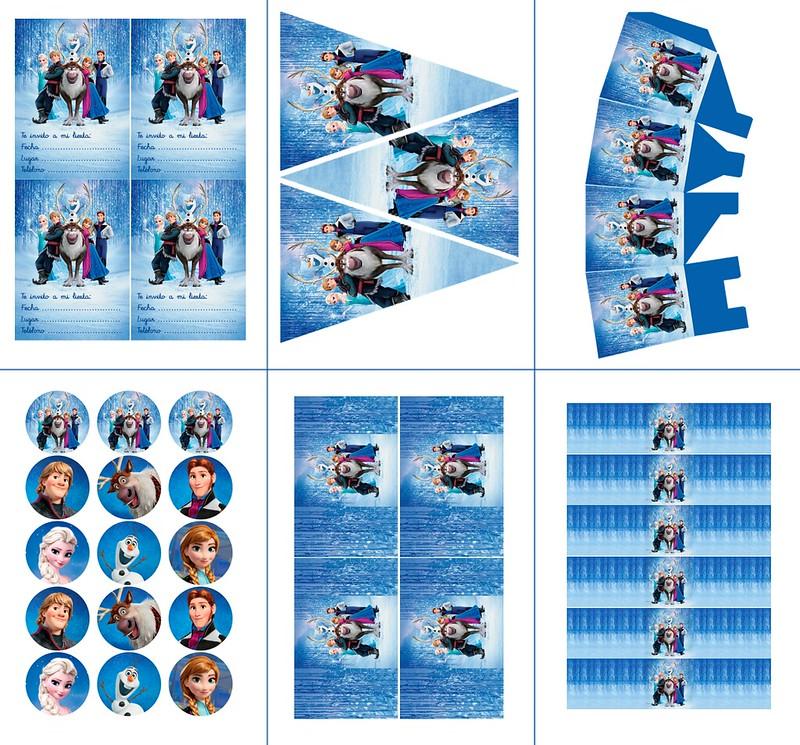Imprimible gratuito Frozen