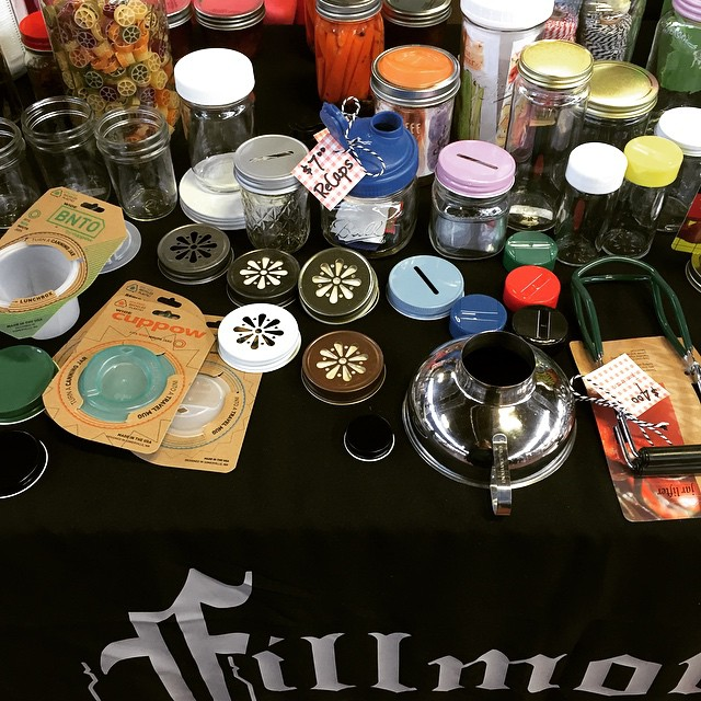 Just some of the fun gear at the @fillmorejars booth at the PA Farm Show!