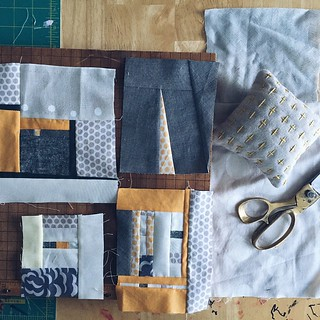 Piecing more blocks. Long winter night. #patchwork | by Insung from NAMOO