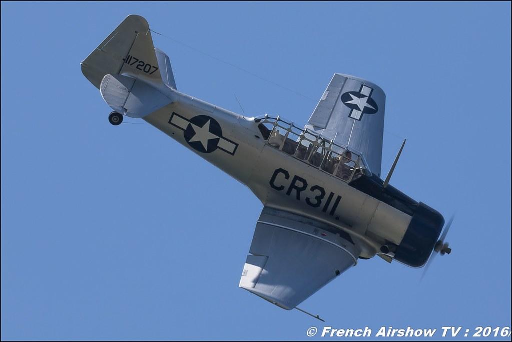 North American T-6G - F-AZTL , Grenoble Air show 2016 , Aerodrome du versoud , Aeroclub du dauphine, grenoble airshow 2016, Rhone Alpes
