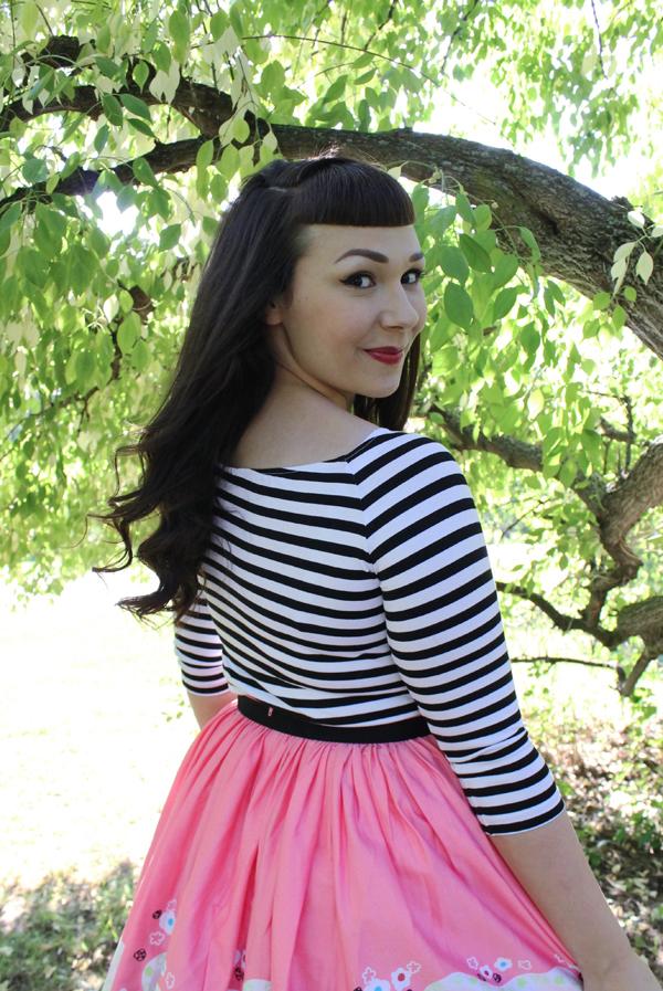 pinup girl clothing striped jailbird top