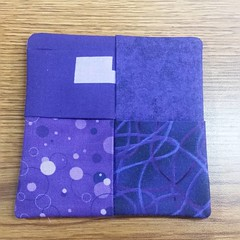 Coaster made for a former coworker in purples.