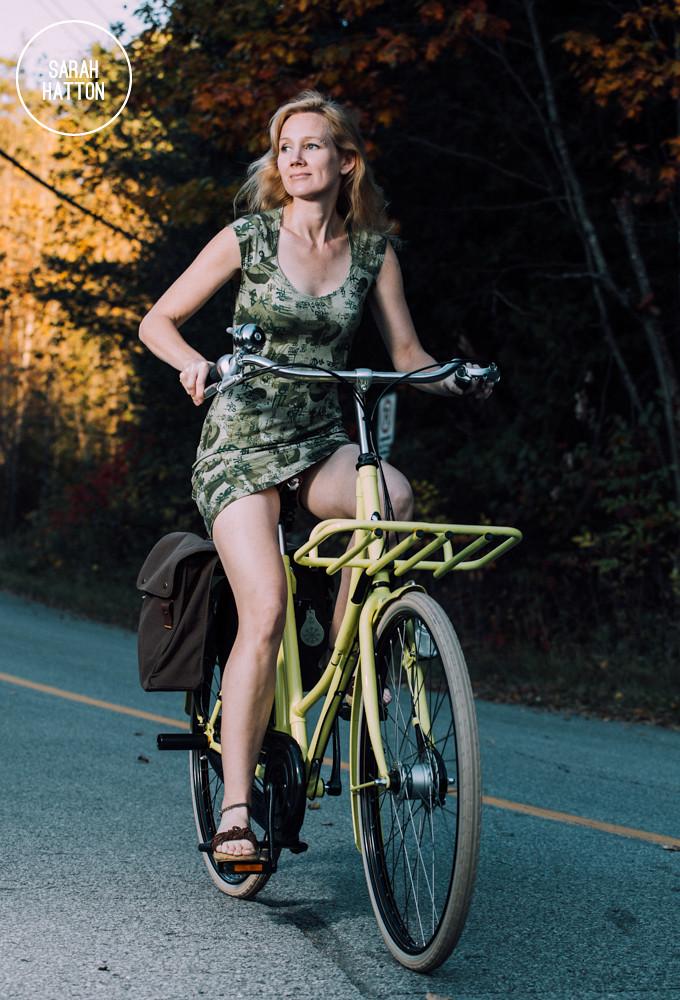 Sarah Hatton Riding Her Bicycle  Sarah Hatton On Her -2818