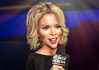 Megyn Kelly - Caricature | by DonkeyHotey