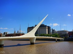 Visit the rotating foot bridge at Puente de la Mujer - Things to do in Buenos Aires