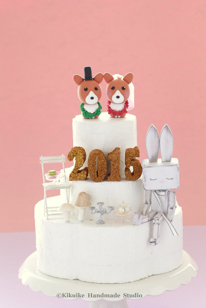 happy new year 2015 wedding cake topper by charles fukuyama