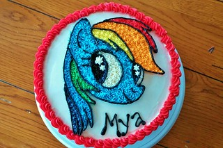 My little pony cake brabelbry flickr for Rainbow dash cake template
