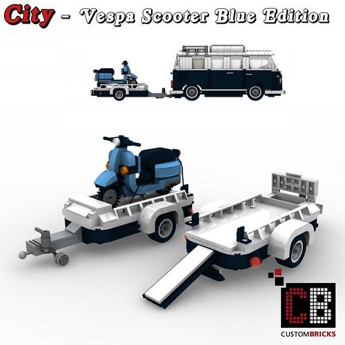 lego custom t1 10220 bus vespa anh nger blue cb0 the. Black Bedroom Furniture Sets. Home Design Ideas