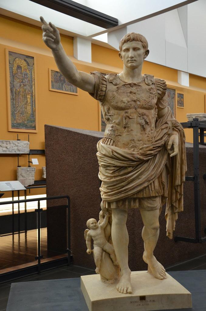 Augustus of Prima Porta, discovered in the Villa of Livia ...