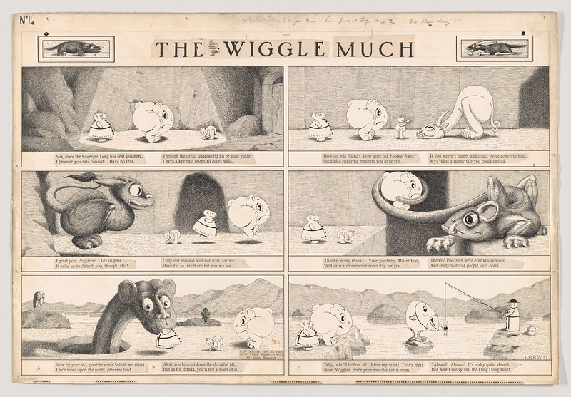 "Dummy for ""The Wiggle Much"" Comic Strip, Number 14 (published by The New York Herald, June 14, 1910)"