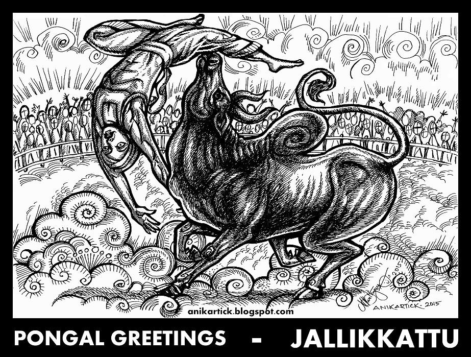 Image Result For Tamilnadu Jallikattu Sketches Drawings T