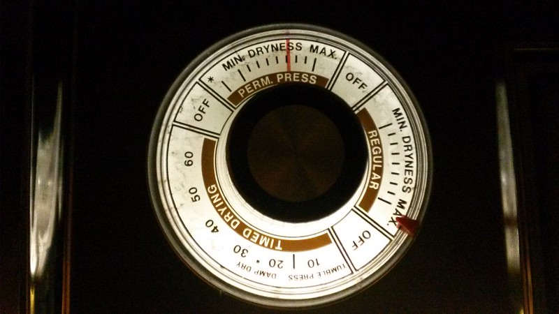 Dryer lighted dial