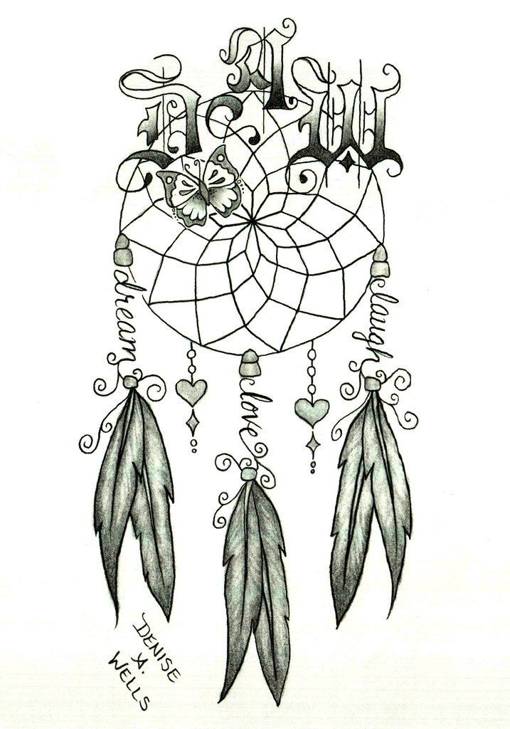 Dream Catcher Tattoo By Denise A Wells With