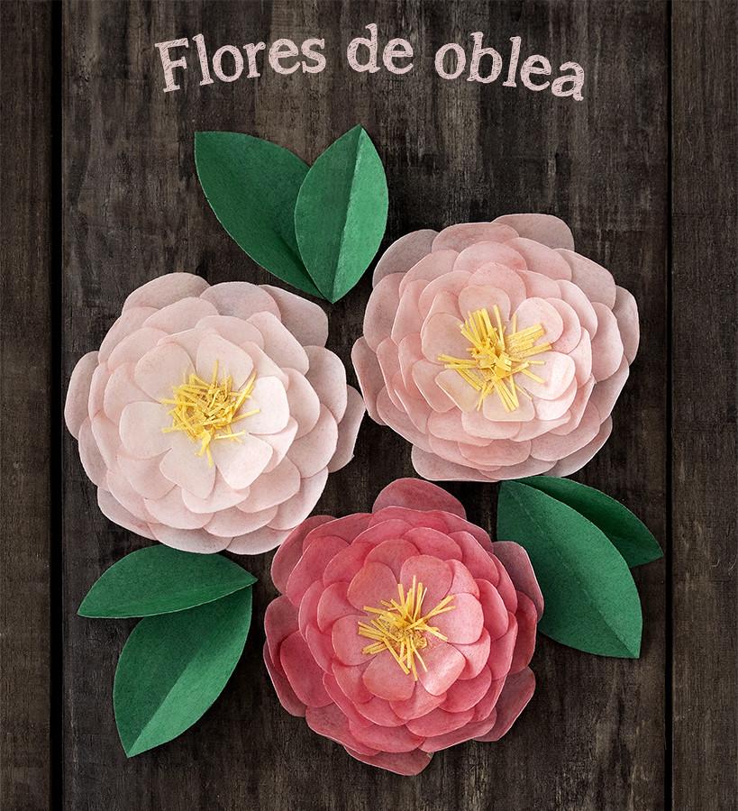 Flores de wafer paper