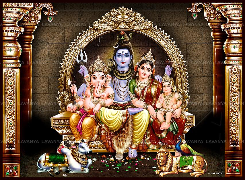 lord shiva family wallpaper for mobile wwwpixsharkcom