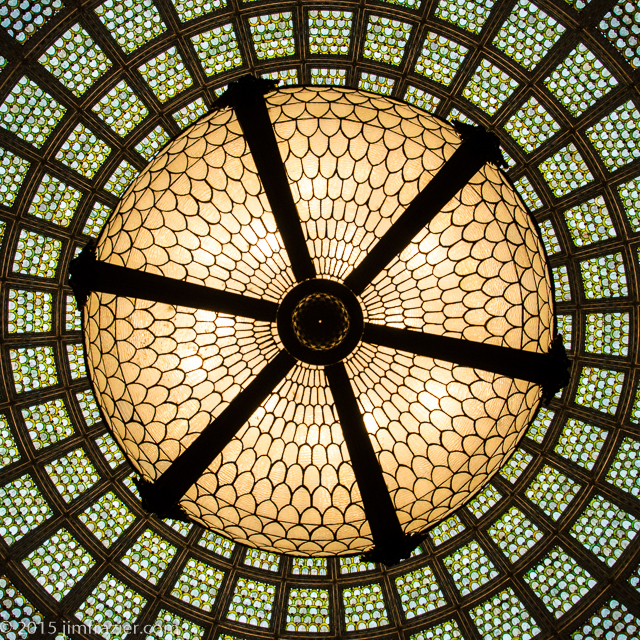 Tiffany Dome in Preston Bradley Hall