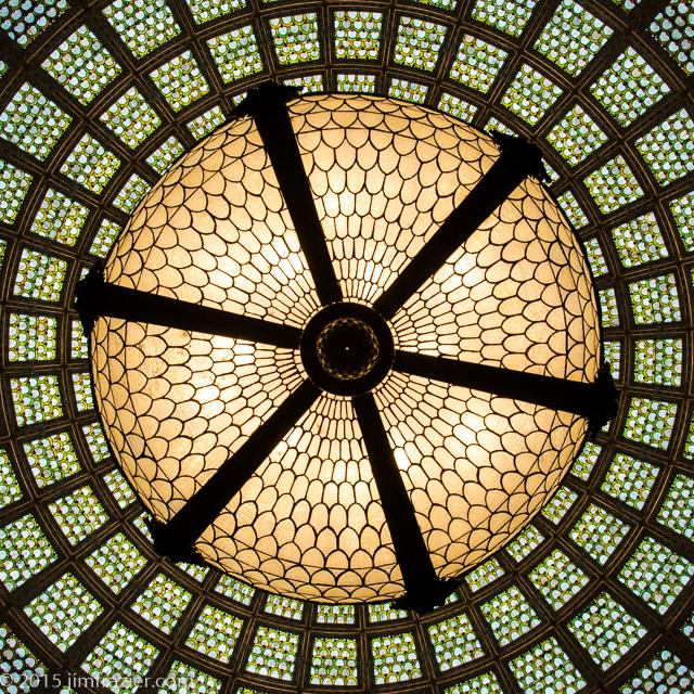Tiffany Dome in Preston Bradley Hall
