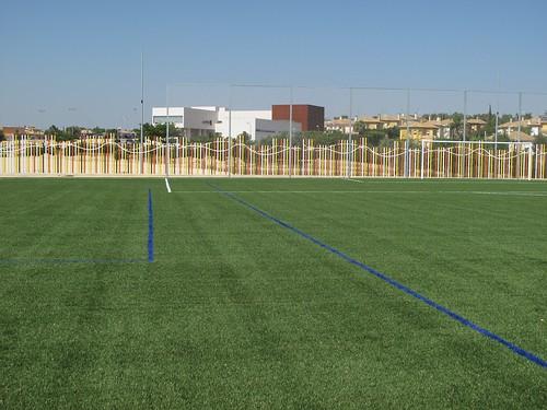 Campo de fútbol de césped artificial Entrenúcleos