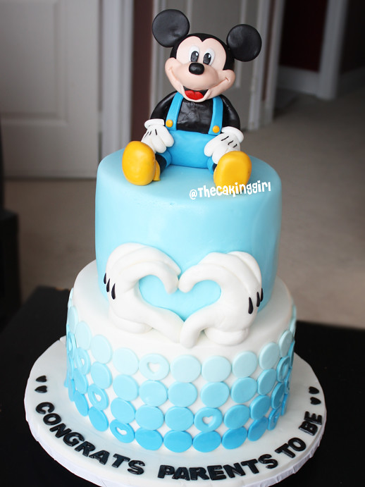 Mickey Mouse Theme Cake A Mickey Mouse Baby Shower Cake Fo Flickr