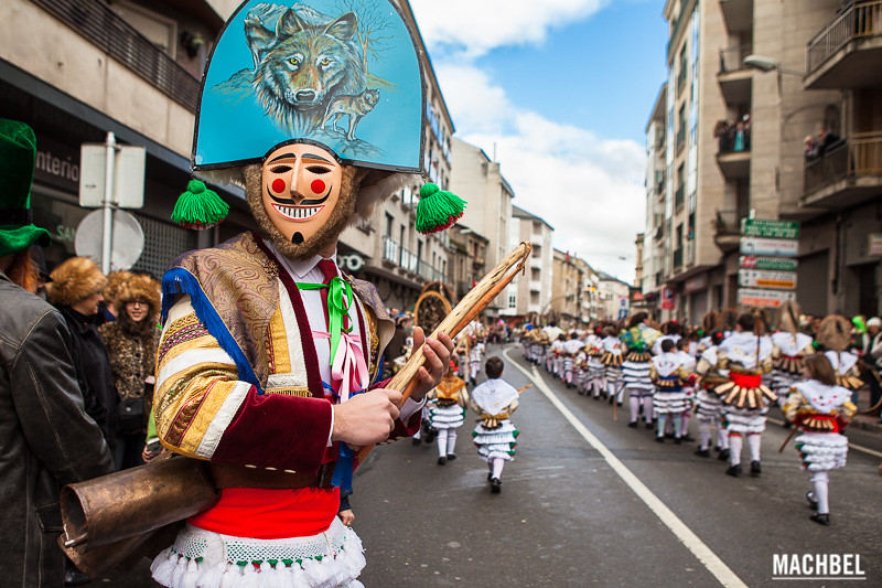 Galician carnaval parade in Ourense, Spain