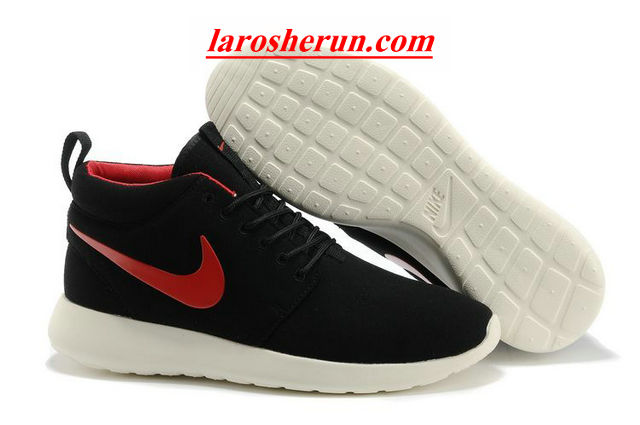 the latest 309e1 bb139 ... chaussures nike roshe run anti-fur Mid homme noir blanc rouge logo  by  lisabeals0929