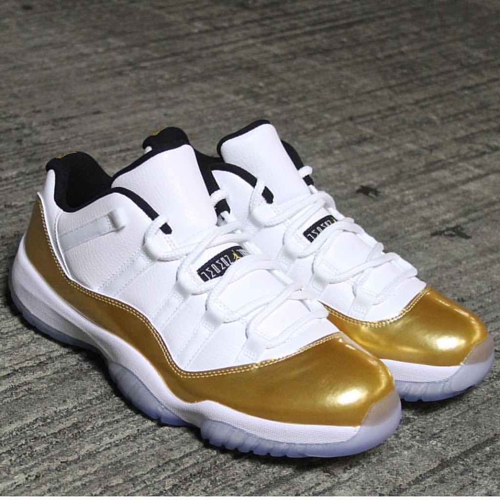74662da870ae Jordan 11 Low Gold Mattalic