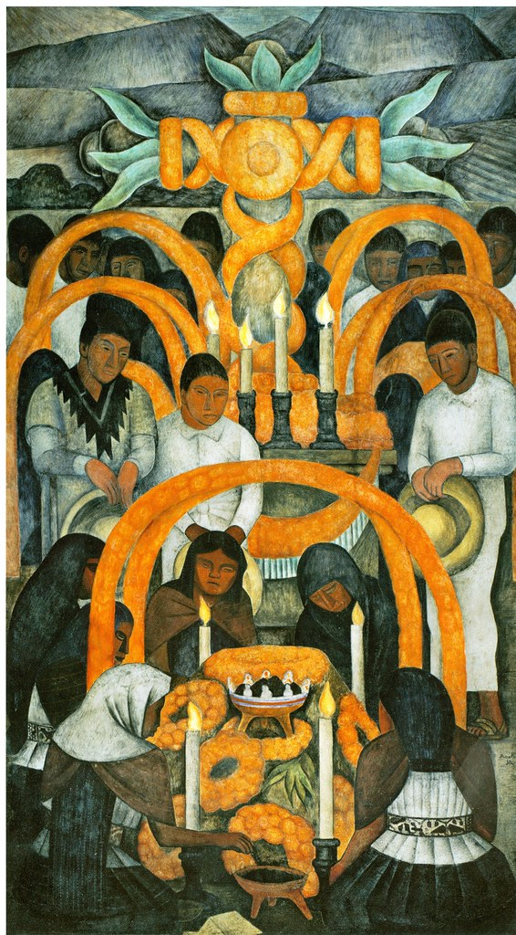 Diego rivera la ofrenda dia de muertos 1923 1924 flickr for Diego rivera day of the dead mural