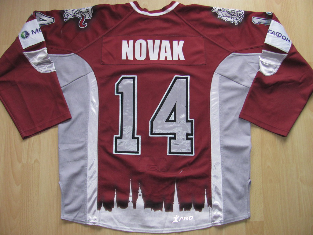 ... Filip NOVAK Game Worn Jersey  10c9a456c