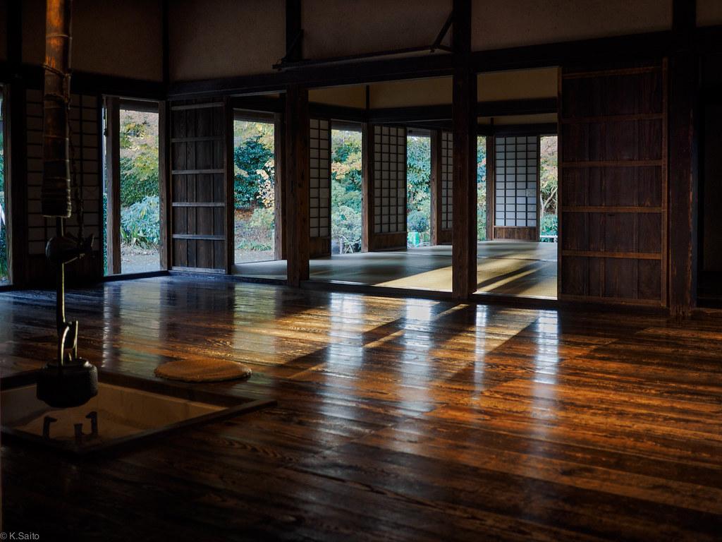 Japanese old house of village headman kazu saito flickr for Classic japanese house design