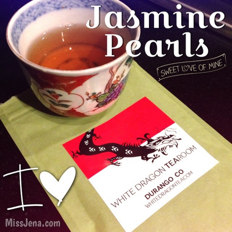Jasmine pearls from the white dragon tearoom in durango colorado
