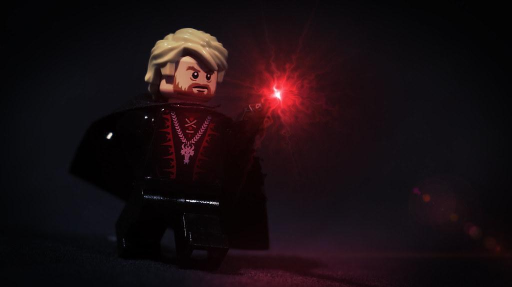 Lego gellert grindelwald custom minifigure of dark for Harry potter grindelwald wand