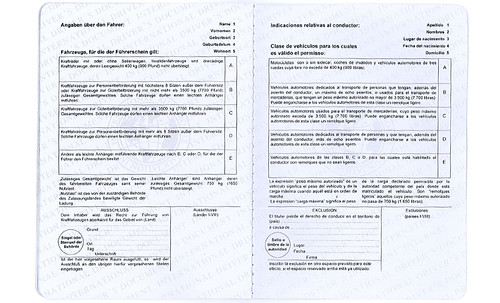 Permis international exemple 6