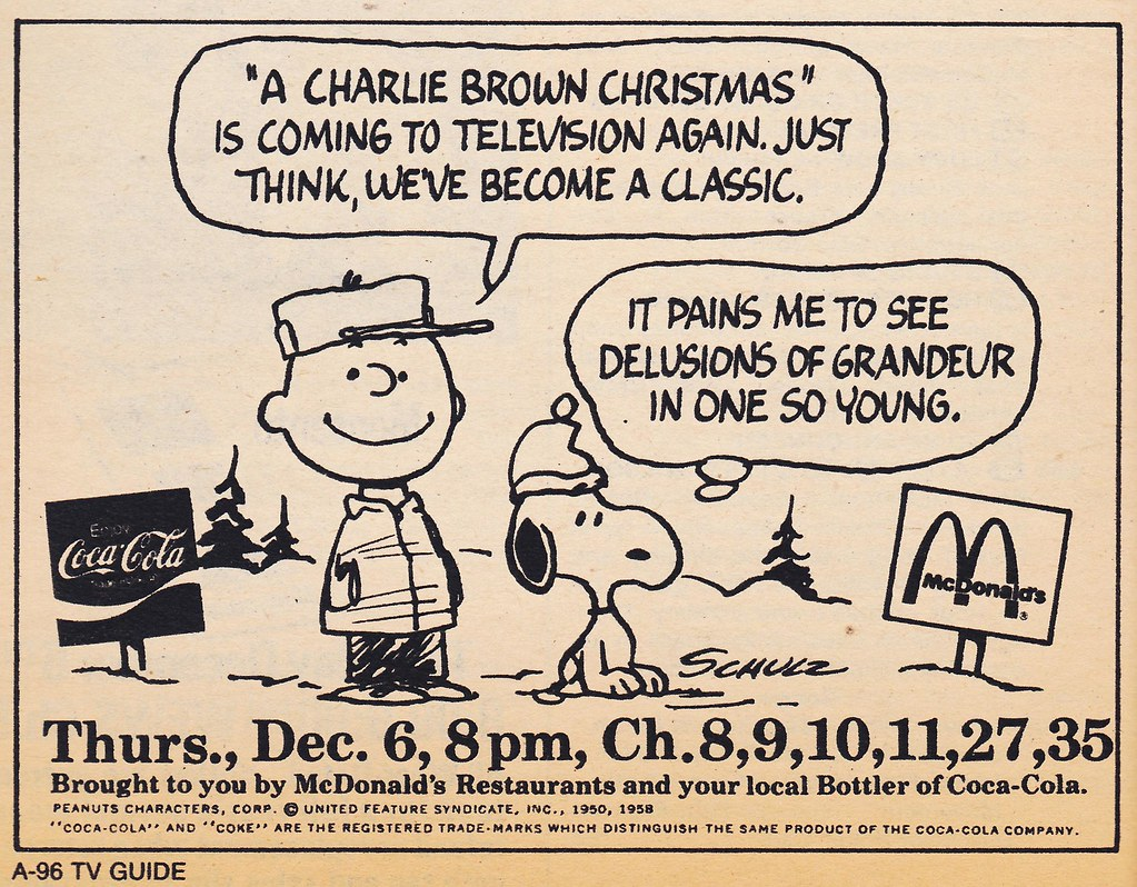 RETRO CHRISTMAS: 1973 TV Guide Ad for \'A Charlie Brown Chr… | Flickr