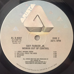 RAY PARKER JR.:WOMAN OUT OF CONTROL(LABEL SIDE-B)
