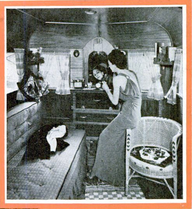 Interior of an up-to-date luxury trailer - Pupular Science April 1937