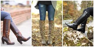 Women wearing Frye tall cowboy boots - Meagans Moda