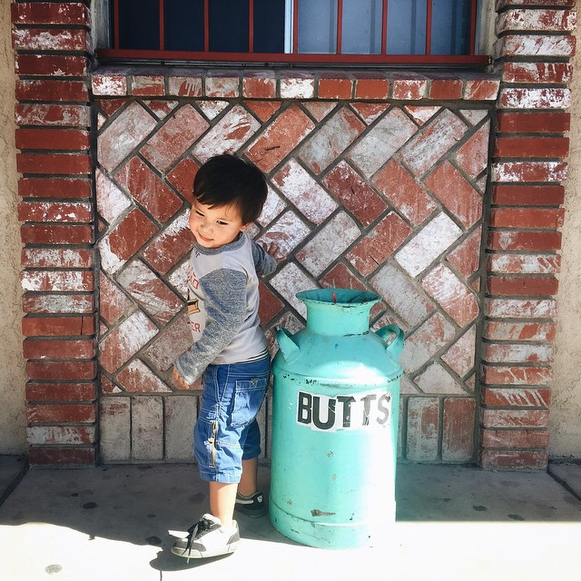 A boy and a jar of butts. #ohluka by malimish_marlene